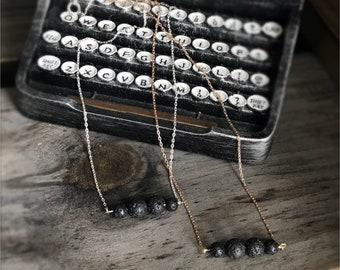 Lava bead necklace