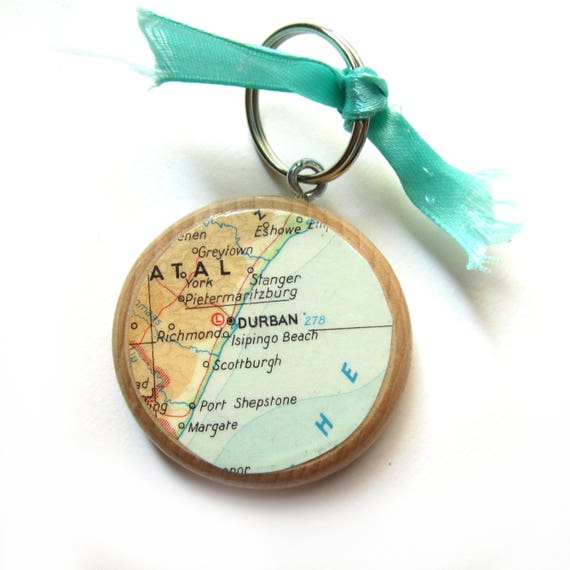 Personalized World map keychain - Africa variations