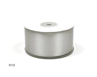 38mm - spool of 25 meters of ref 012 light grey satin ribbon