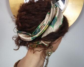 Flowered Satin Hair band.12915
