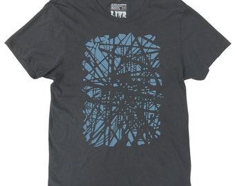 Brooklyn Subway Tshirt, Organic Cotton in Asphalt Grey