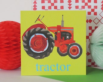 Tractor Card | boys card | farmer card | any occasion card | red tractor