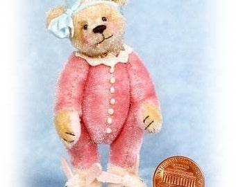 Sugar Bear - Miniature Teddy Bear Kit - Pattern - by Emily Farmer