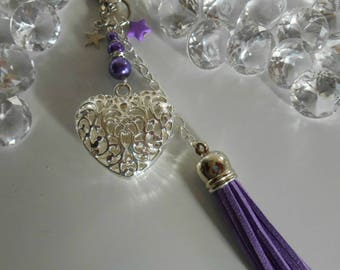"Bag charm / Keyring purple ""proof of love"""