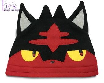 Pokemon Starter Hat - Litten - Pokemon Fleece Hat - Super Cozy Beanie