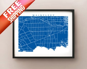 Wainfleet, ON Map - Canada Wall Art - Niagara Region, Ontario
