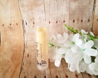 Organic beeswax lip balm. Baby shower favor