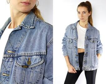 Lee Jean Jacket Lee Denim Jacket Lee Jacket Vintage Denim Jacket Vintage Jean Jacket Blue Denim Jacket Blue Jean Jacket 80s Jean Jacket