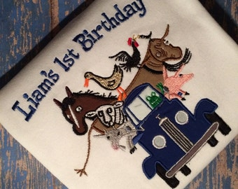 Little Blue Truck Birthday shirt or bodysuit