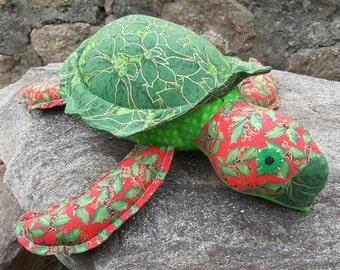 """HOLIDAY Sea Turtle- """"Poinsettia"""" OOAK!!"""