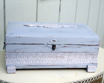 Jewelry Box Shabby Chic Distressed Upcycled