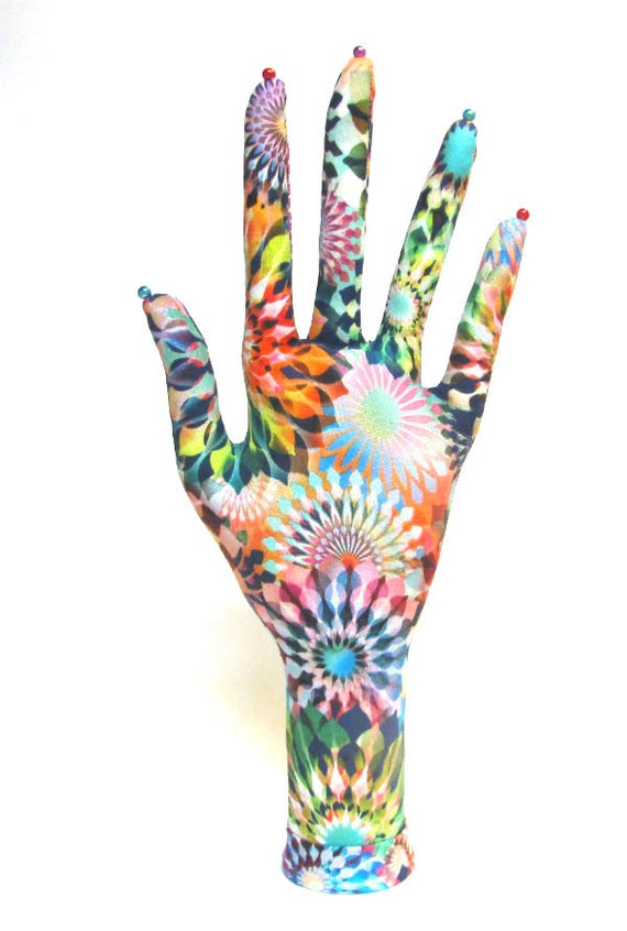 CLASSIC Crystalia Fabric HAND-Stand ~ Jewelry Display ~ Ready to Ship