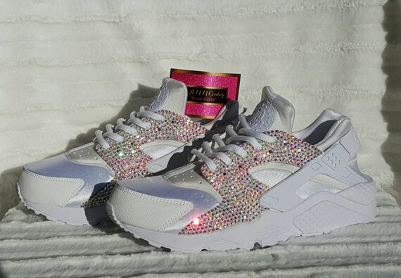 Crystal Nike Huarache in in in Blanco e5c2fd