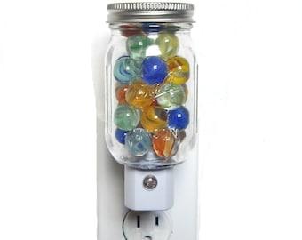Marble Display Night Light, mini Ball jar nightlight, LED, marbles not included