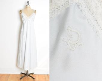 christian dior nightie, vintage 80s lingerie, dior lingerie, blue nightgown, 80s nightgown, dior lingerie dress, 80s nightie satin nightgown