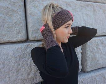 The Ashley Headband & Wrist Warmer Set