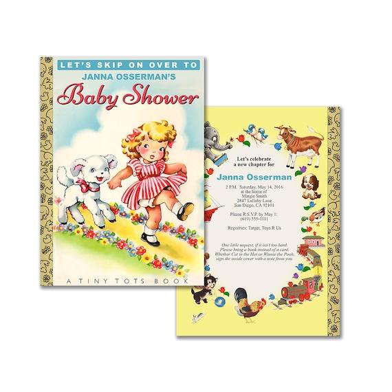 Storybook Baby Shower Invitation Diy Printable Invitation