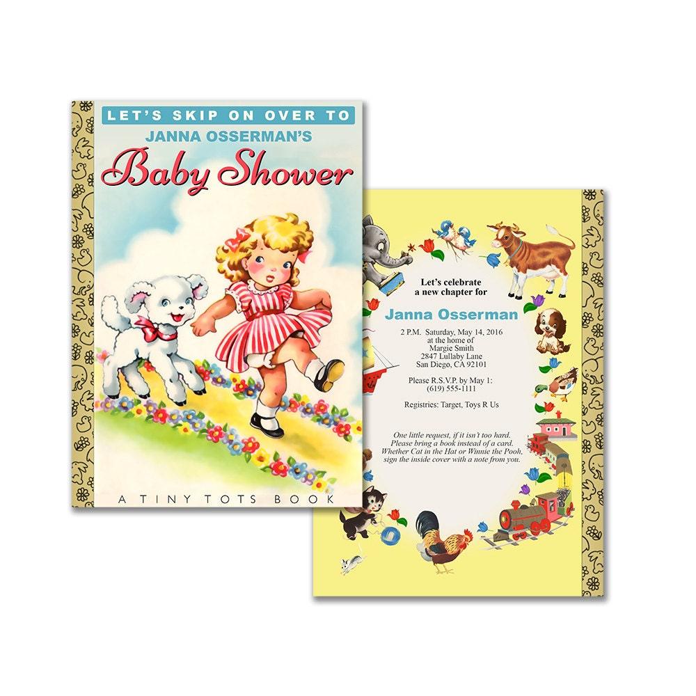 Storybook baby shower invitation / DIY printable invitation /