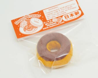 1 chocolate donut pastry rubber