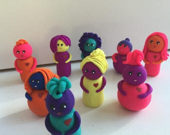 We Heart Diversity Embrace your Uniqueness Individuality Mini Marble Friends Choose Yours