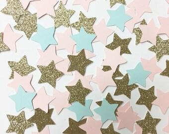 Gender reveal star confeti//confetti, party decorations, party deco, party supplies, star confetti, baby shower, gender reveal, gold star