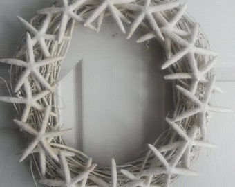 Wedding starfish wreath. Beach wedding wreath.