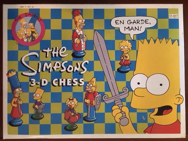 Image result for the simpsons chess set