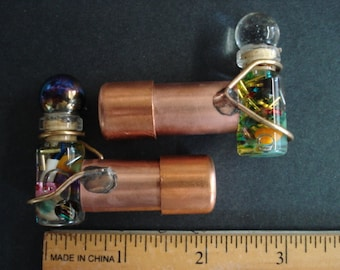 Mini copper Kaleidoscope, optical quality mirrors