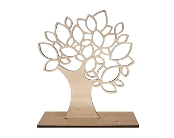 1 Tree leaves bijoux stand, Jewellery stand with a shape of tree ideal as bijoux organiser, craft market stand, gift for her - SET 1 tree