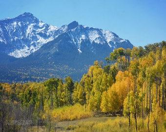 Mountain art, Colorado picture, mountain photography, nature print, landscape photo, fall decor, wall art, mountain print - Colorado Gold