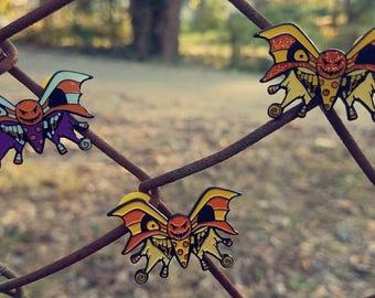 WickedDreamCreations Halloween rotten treats inspired wicked butterfly 1.5 inch soft enamel pins
