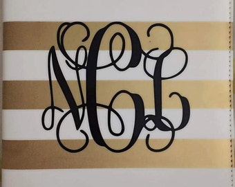 Monogram Vinyl Decal - Any Size - Personalized Decal - Permanent Vinyl Decal - Monogram Sticker - Monogrammed