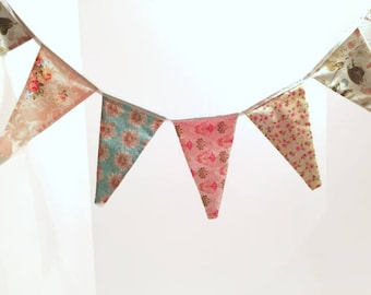 Tea time garland/banner/flag