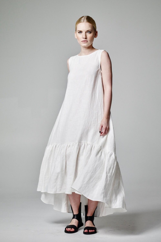 Weißes Leinen Kleid weißen Boho Kleid Boho Brautkleid Boho