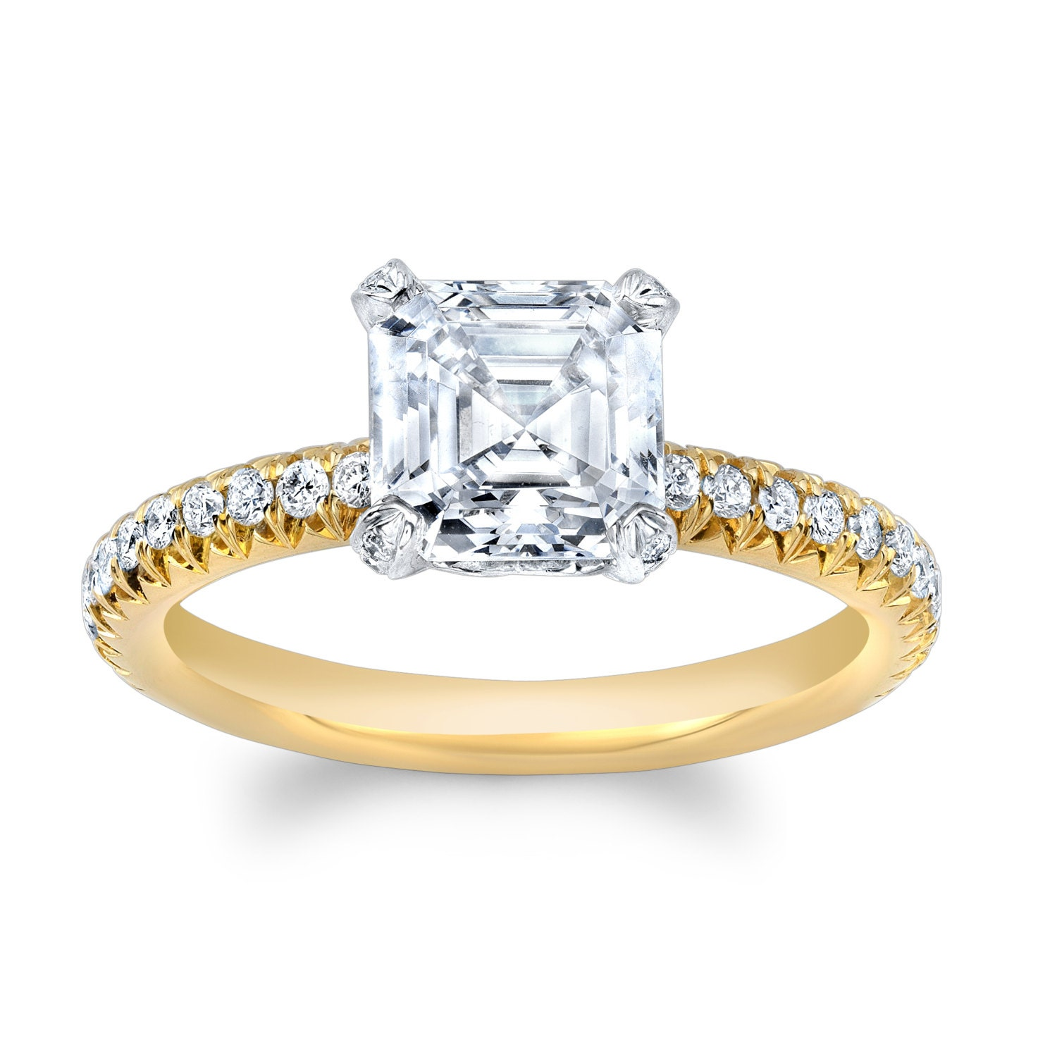 brilliant ayla ss sunshine ring asscher inc rings