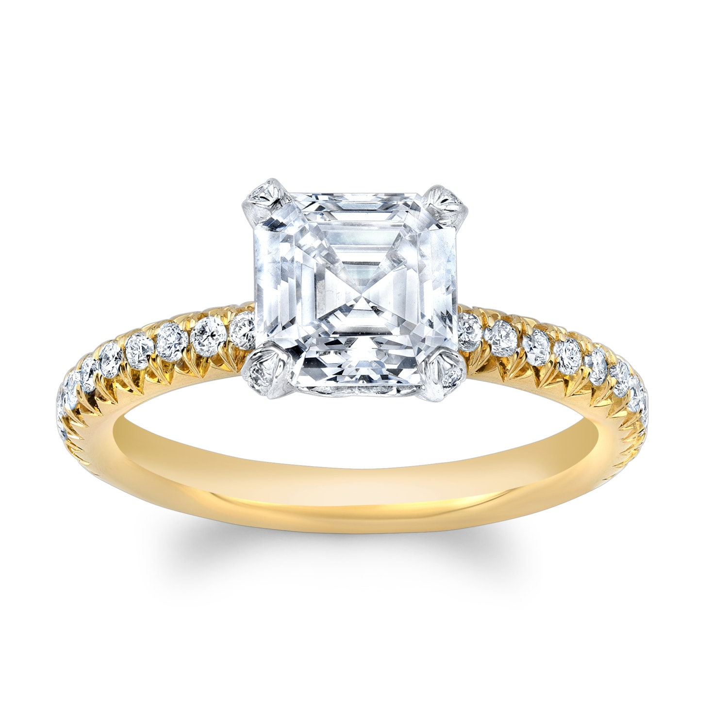 ring bridal iroff diamond gold engagement rings white shop classic son cut asscher