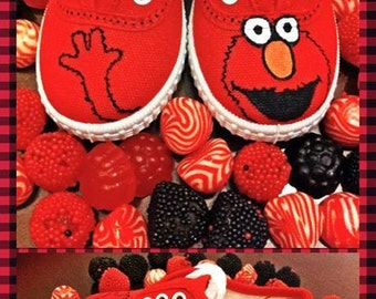 """SALE!! Funny Sneakers for kids """"Elmo"""""""