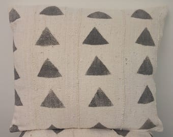 Light Grey and Cream Mudcloth