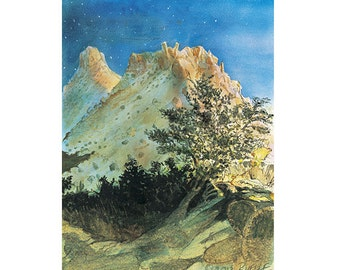 Mt. Lemmon Giclee Fine Art Print of Original Watercolor Painting