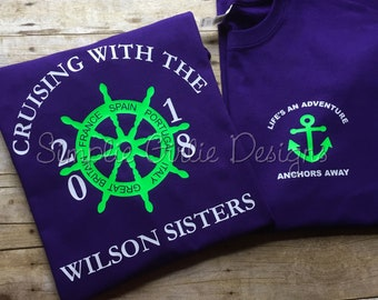 Custom cruise t-shirts. Family cruise shirts. Bella Canvas brand shirts. Baby through 4X. You choose colors and text