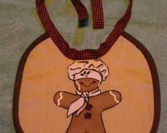 Baby Bib Gingerbread Man