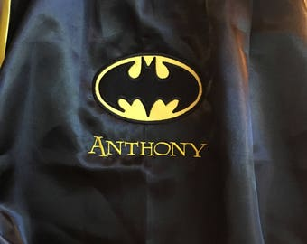 Batman Cape Personalized Superhero Cape Superman Cape
