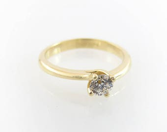 Engagement ring, Unique engagement ring, Solitaire ring, Modern engagement ring, Solitaire engagement ring, Diamond engagement ring