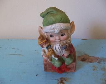 homco gnome santa's helper figurine
