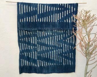 Vintage Indigo fabric Textile Mali Indigo African Indigo Fabric, Indigo Blue Fabric, Cotton Shawl, Tribal Boho Wall Decor Tribal Fabric #201