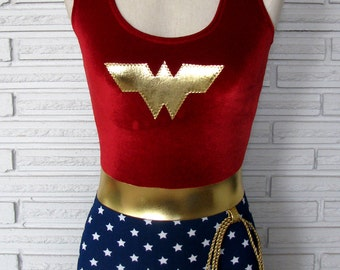 Wonder Woman Costume, Wonder Woman Singlet, XXS - L