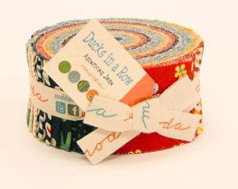 Ducks In A Row Jelly Roll by American Jane for Moda