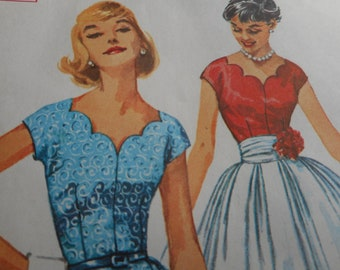 Vintage 1960's Simplicity 2574 Dress Sewing Pattern Size 16 Bust 36