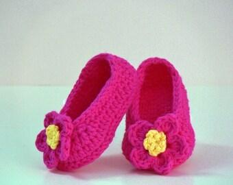 Crochet Pattern - Baby Hat - Baby Slippers - Ballerina, Mary Janes, Sizes Preemie, Newborn, Baby, Toddler, Girls, Meadowvale Studio  #105