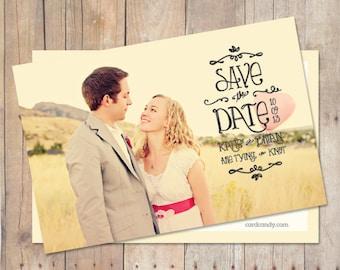 Simple SaveTheDate Card Save The Date Postcard Save The - Save the date magnet templates